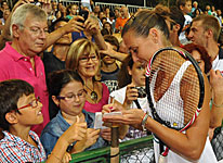 Flavia Pennetta at VIP Master 2012 wears PG Bracelets