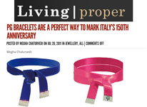 PG Bracelet are a perfect way to mark Italy's 150th anniversary